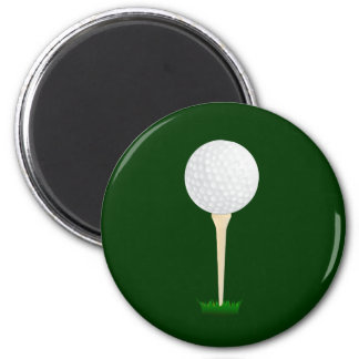 Golf Ball on a Tee Magnet
