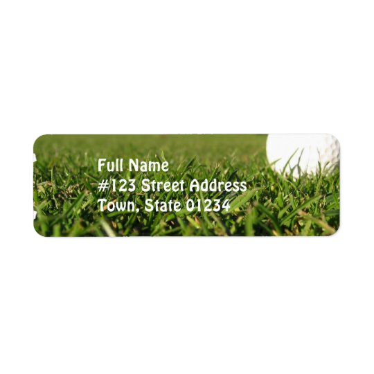 Golf Ball on Course Mailing Labels