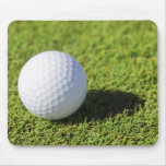 Golf Ball On Green Grass Course - Customised Mousepad