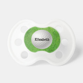 Golf Ball on Green Pacifier