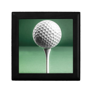 Golf Ball on Tee Small Square Gift Box