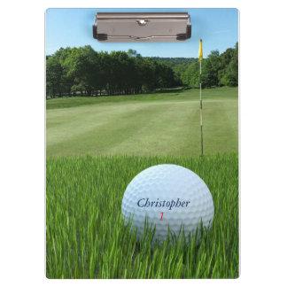Golf Ball on the Fairway Clipboard for Golfers