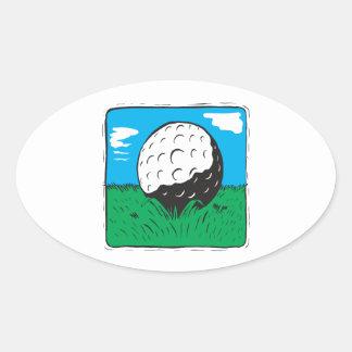 Golf Ball Oval Sticker