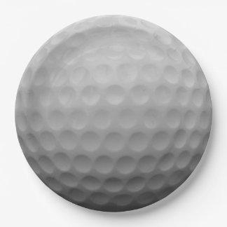 Golf Ball Paper Plate