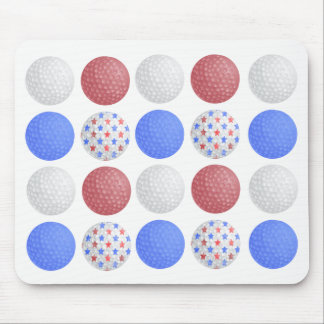 GOLF BALL PATRIOTIC DESIGN, 4TH JULY GOLFER GIFT MOUSE PAD