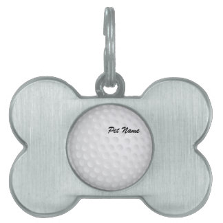 Golf Ball Pet Name Template Pet Tag