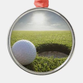 Golf Ball PGA Metal Ornament