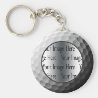 golf ball photo key ring