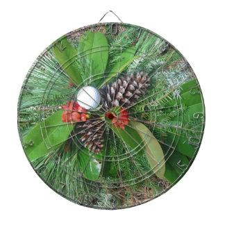 Golf ball pine cones and evergreens Christmas Dart Board