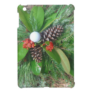 Golf ball pine cones and evergreens Christmas Cover For The iPad Mini