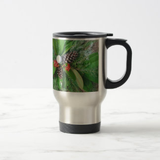 Golf ball pine cones and evergreens Christmas Mugs