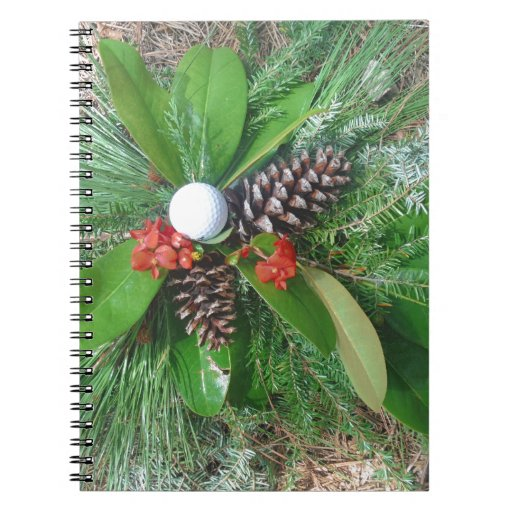 Golf ball pine cones and evergreens Christmas Journals