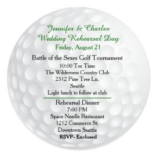 Golf Ball Pre Wedding Festivities Invitation