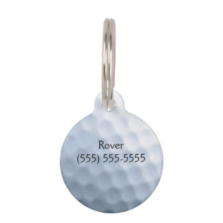 Golf Ball Print Pattern Background Pet Name Tags