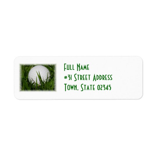 Golf Ball Return Address Label