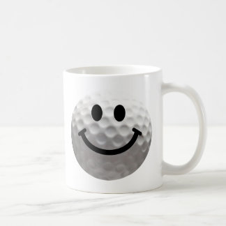 Golf ball smiley coffee mug