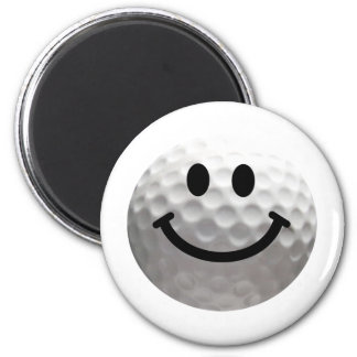 Golf ball smiley magnet