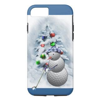 Golf Ball Snowman Christmas iPhone 8/7 Case