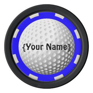 Golf ball spotter poker chip poker chips