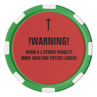 Golf ball spotter poker chip with mark reminder