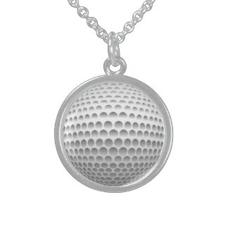 Golf Ball Sterling Silver Necklace