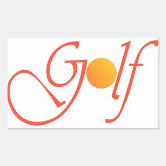 Golf Ball Rectangular Sticker