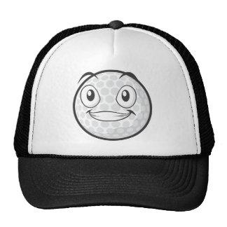 Golf Ball Sticker  Happy Golf Ball Cartoon Sticker Cap
