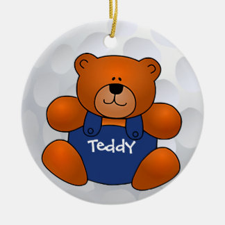 Golf Ball Teddy Bear Ornament
