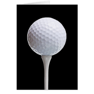 Golf Ball & Tee on Black - Customized Template