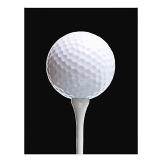 Golf Ball & Tee on Black - Customized Template 21.5 Cm X 28 Cm Flyer