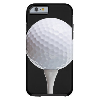 Golf Ball & Tee on Black - Customized Template Tough iPhone 6 Case