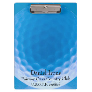 Golf Ball Texture Dimples Arctic Blue_personalized Clipboards
