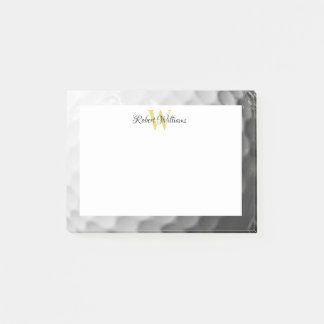 Golf Ball Texture Monogram Personalized Post-it Notes
