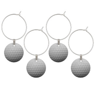 Golf Ball Theme Adult Party Ideas Wine Glass Charm