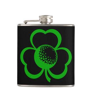 Golf Ball Three Leaf Clover Flask