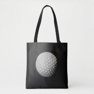 golf ball tote back charcoal gray and black