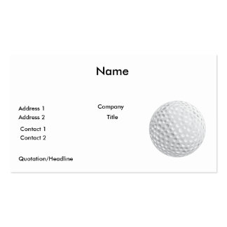 golf ball vector graphic business cards