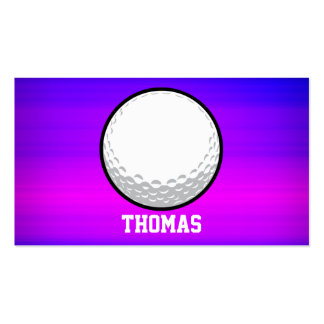 Golf Ball; Vibrant Violet Blue and Magenta Double-Sided Standard Business Cards (Pack Of 100)