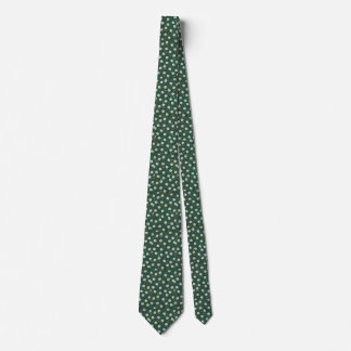 Golf Balls and Tees Tie on Green Background
