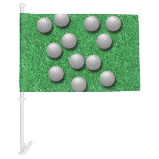 Golf Balls Car Flag
