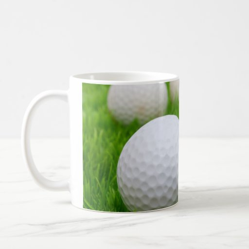 Golf Balls In Grass Mugs