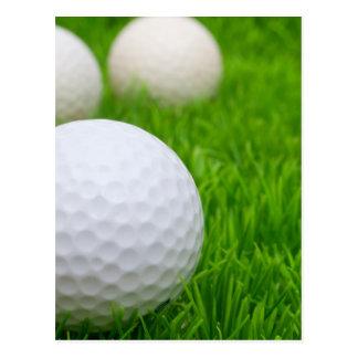 Golf Balls In Grass Post Card