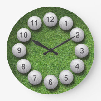 Golf Balls Large Clock