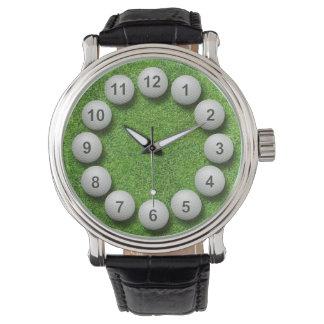 Golf  Balls Timepiece Watch