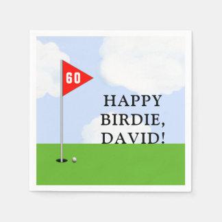 golf birthday disposable napkin