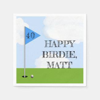 Golf Birthday Party Disposable Serviette