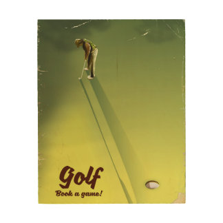"Golf ""Book a game"" vintage Poster"