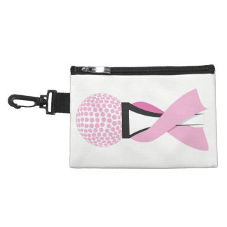 Golf Breast Cancer Awareness Pink Ribbon Accessory Bag