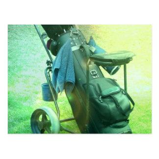 Golf Caddie Postcard