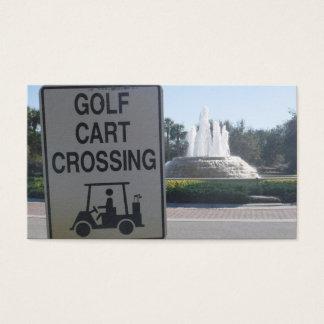 Golf Cart Crossing Business Card